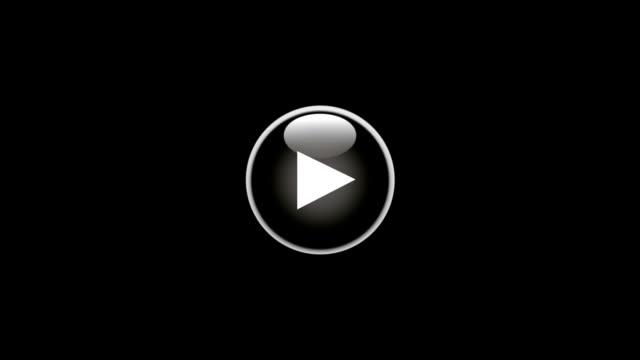 play button-blau (schwarz bg - zahlentastatur stock-videos und b-roll-filmmaterial