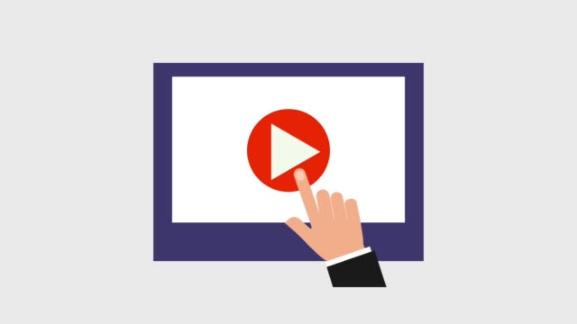 play video icons - clip art video stock e b–roll