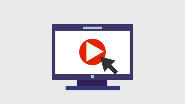 play video icons mountain and clouds video playing on computer screen icons animation design clip art stock videos & royalty-free footage