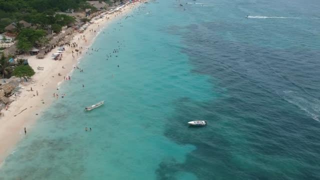 vídeos y material grabado en eventos de stock de playa blanca de cartagena - colombia