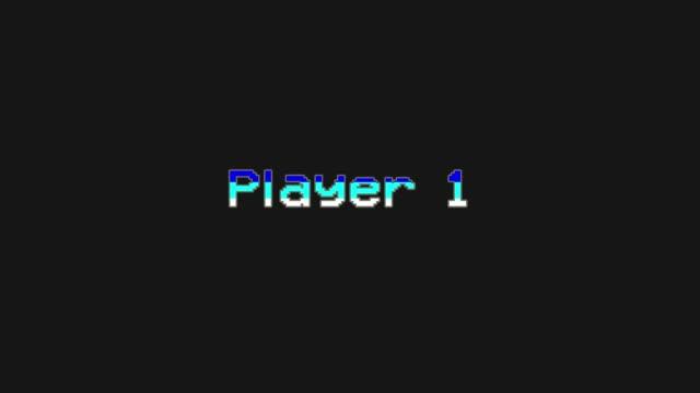 Player 1 - Video Game Menu Glitch and Retro Concept - stock video