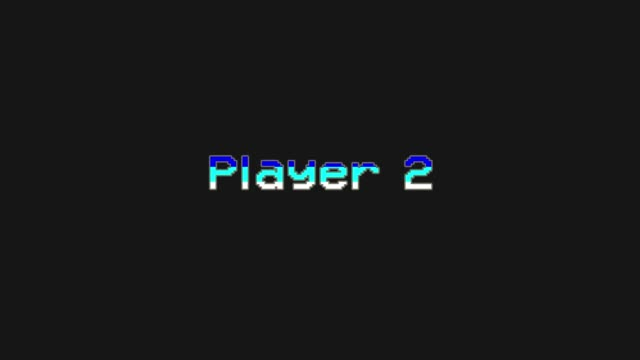 Player 2 - Video Game Menu Glitch and Retro Concept - stock video