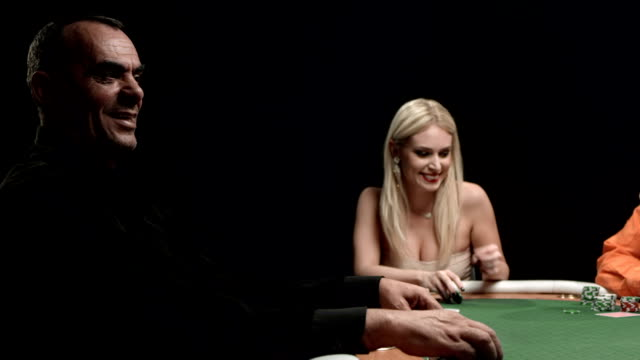 HD DOLLY: Players Having Fun Playing Poker video