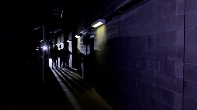 Players jog through hallway video