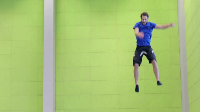 Playful Athlete on Trampoline video