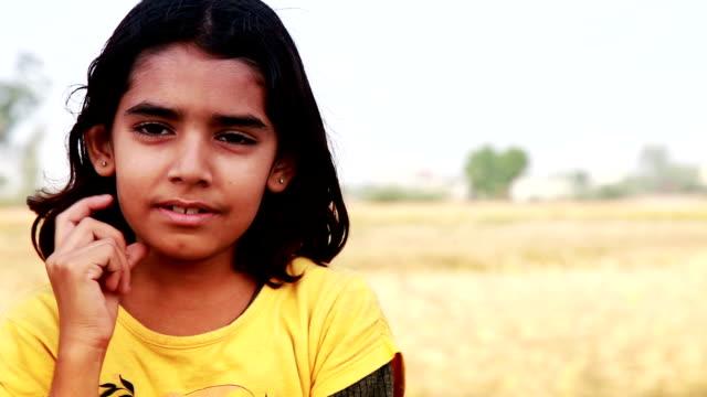 Playful Little Girls Standing portrait video