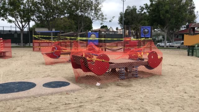Playground closed during coronavirus quarantine video