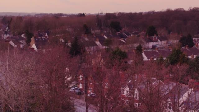 Playground in Town Park, Watford - Drone Shot video