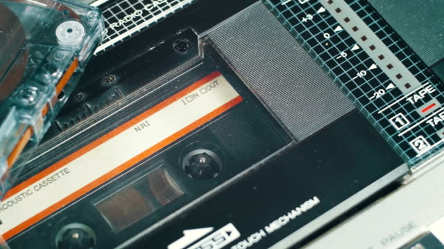 Playing an Audio Cassette in a Vintage Tape Recorder video