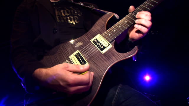 HD: Playing An Electric Guitar video