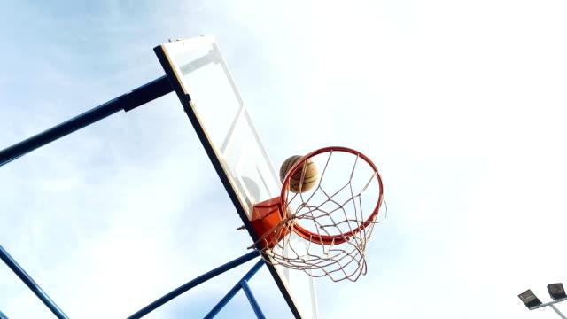 Playing basketball outside video