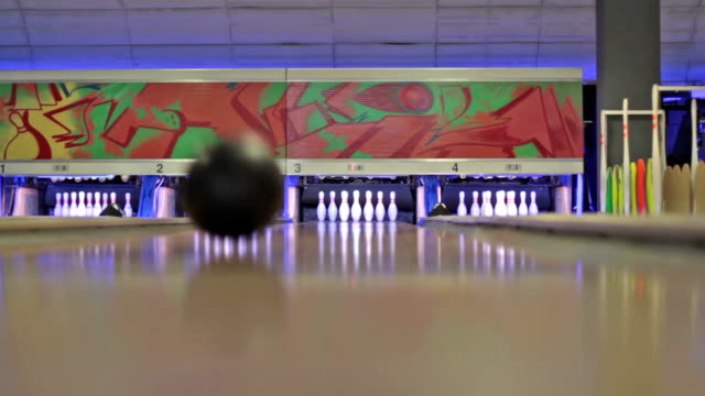 Playing Bowling video