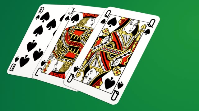 Playing cards 3D animation video