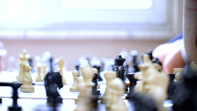 Playing Chess Full HD, 50P, Real Time rivalry stock videos & royalty-free footage