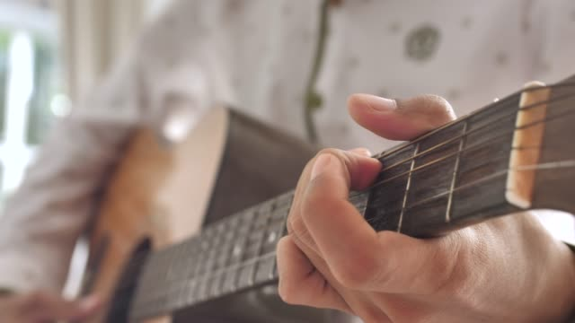 Playing guitar close up Playing guitar close up musical theater stock videos & royalty-free footage