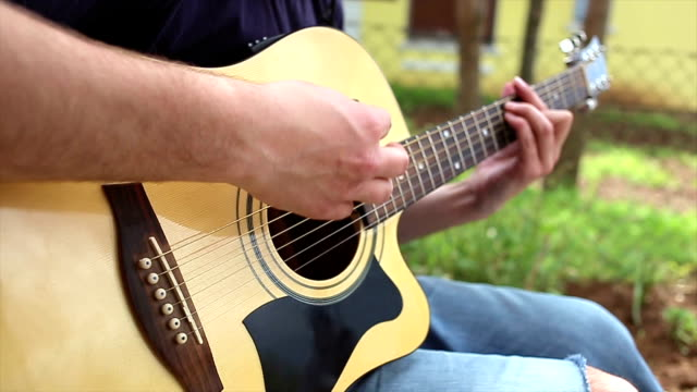 Playing Guitar Outside video