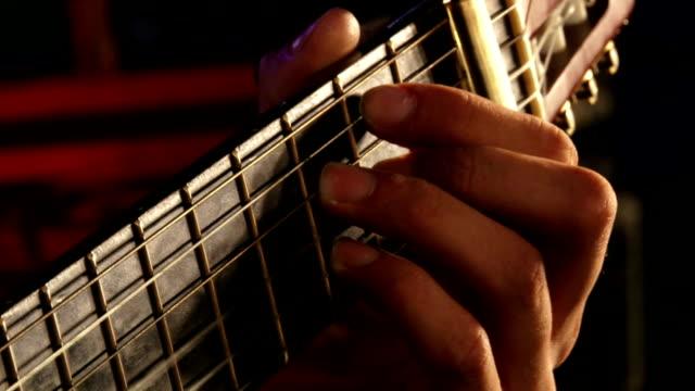 Playing guitar video