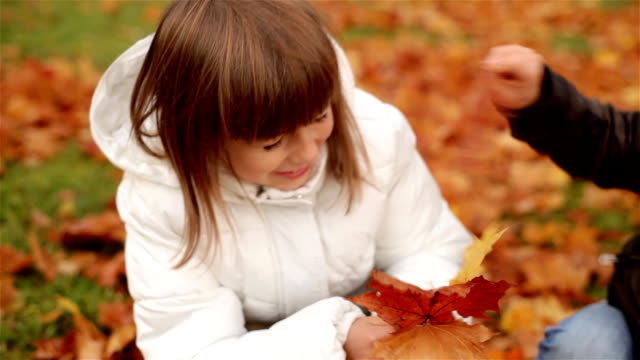 Playing in the Leaves video