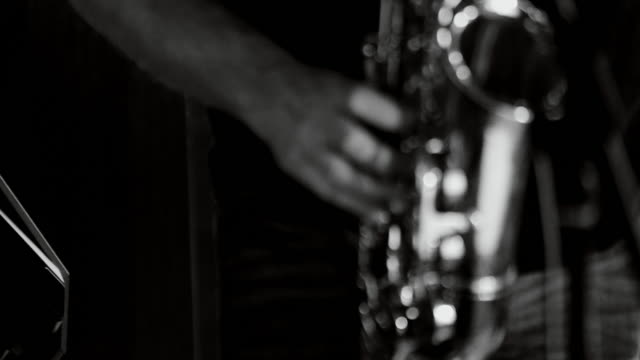 Playing live jazz concert: saxophone video