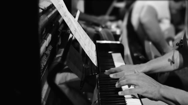 Playing live jazz concert: the piano Playing live jazz concert: the piano classical concert stock videos & royalty-free footage