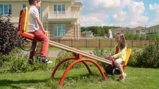 Playing on a Seesaw video