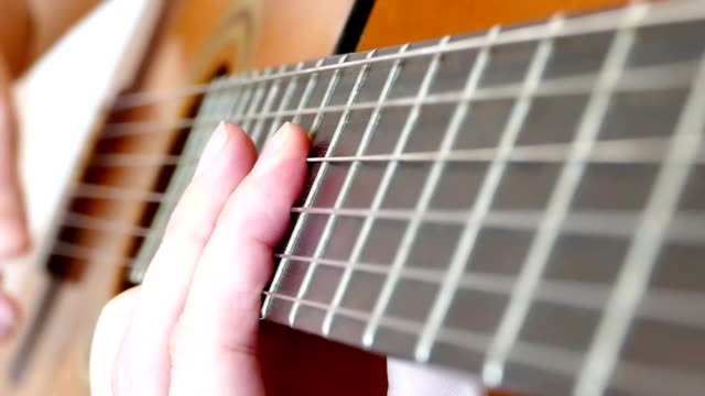 Playing On An Acoustic Guitar video