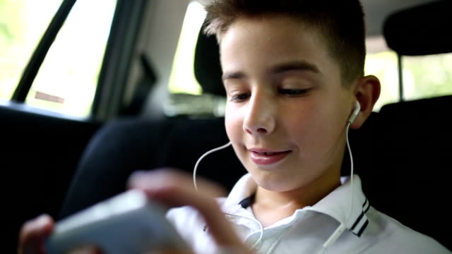 Playing on smart phone in the car video