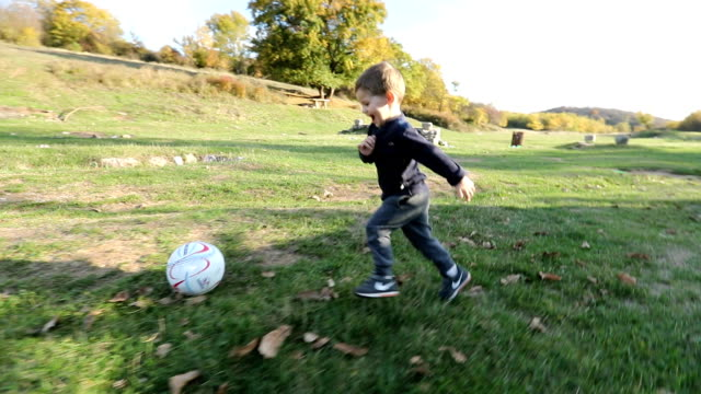 Playing soccer video
