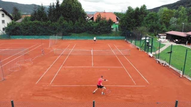 playing tennis is fun - target australia stock videos & royalty-free footage