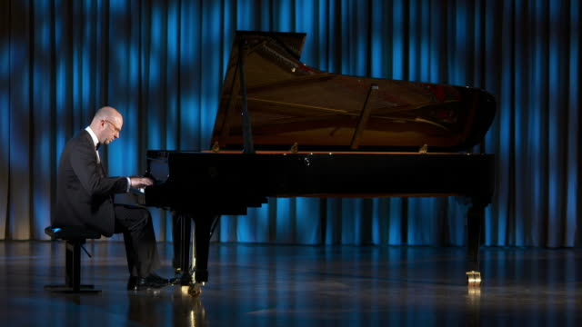 HD DOLLY: Playing The Grand Piano During Classical Concert video