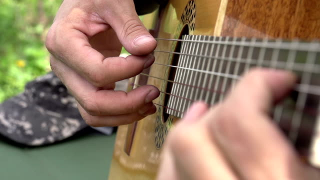 Playing the Guitar video