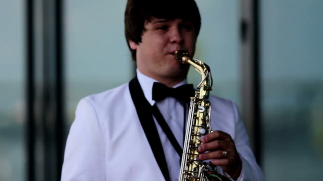 playing the saxophone video