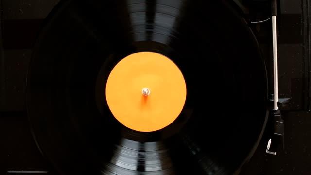 Playing vinyl record