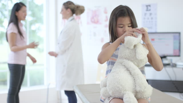 Playing with a Toy Rabbit at a Doctor's Appointment video