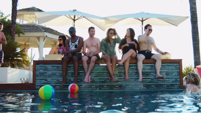 Playing with Balls at Pool Party video