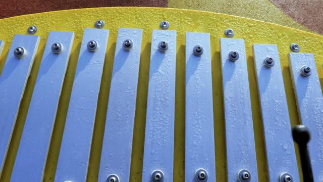 Playng on Glockenspiel