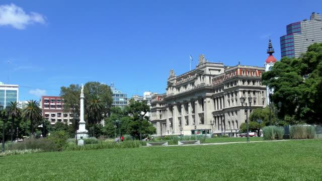 vidéos et rushes de plaza lavalle-buenos aires, argentine - argentine