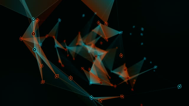 Plexus 3D Rendering Abstract Network Technology Science Background video