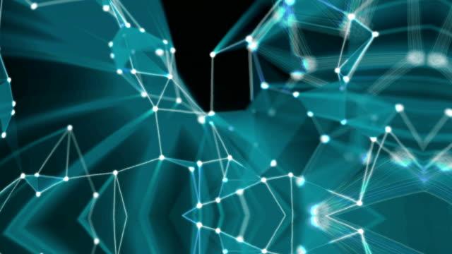 plexus abstrakten animierten hintergrund - blase physikalischer zustand stock-videos und b-roll-filmmaterial