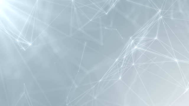 plexus abstrakte netzwerk weiße technik wissenschaft hintergrund schleife - digitalanzeige stock-videos und b-roll-filmmaterial
