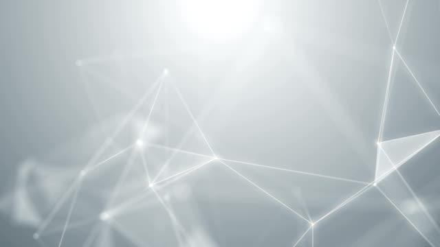 vídeos y material grabado en eventos de stock de resumen de plexo lazo de fondo red blanco tecnología ciencia - plexo
