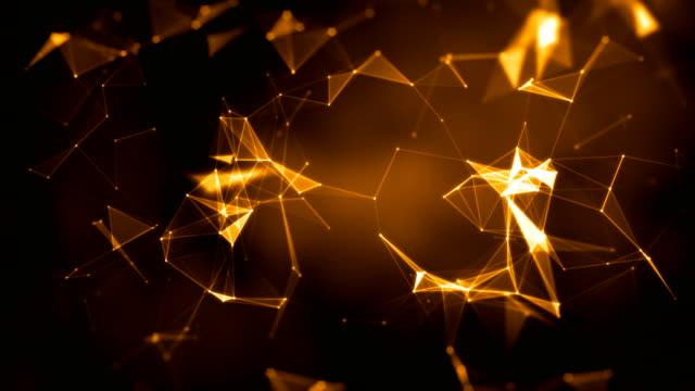 vídeos y material grabado en eventos de stock de fondo plexo, plexo de líneas abstractas, triángulos y puntos. animaciones de bucle 4k. - plexo