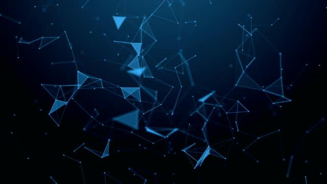 vídeos y material grabado en eventos de stock de plexo de fantasía abstracta tecnología. fondo geométrico abstracto. - constelación