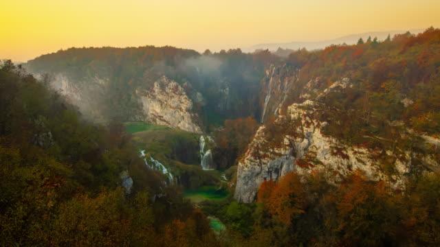 T/L Plitvice Lakes National Park at sunrise
