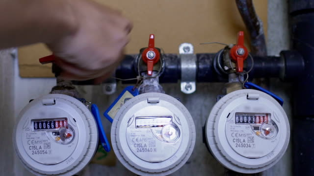 Plumber shutting water supply in house due to planned maintenance of equipment video