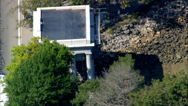 Plymouth Rock  - Aerial View - Massachusetts,  Plymouth County,  United States video