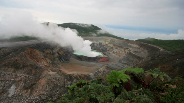 Poas Volcano in Costa Rica - Time lapse video 4K video