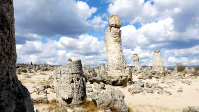 Pobiti kamani, natural rock formations in Bulgaria video