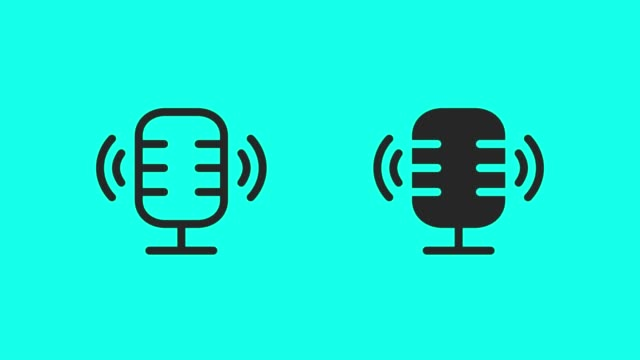 podcast online-icons-vector animate - podcasting stock-videos und b-roll-filmmaterial