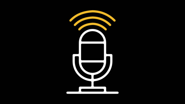 podcasts online linie linie symbol animation mit alpha - podcasting stock-videos und b-roll-filmmaterial